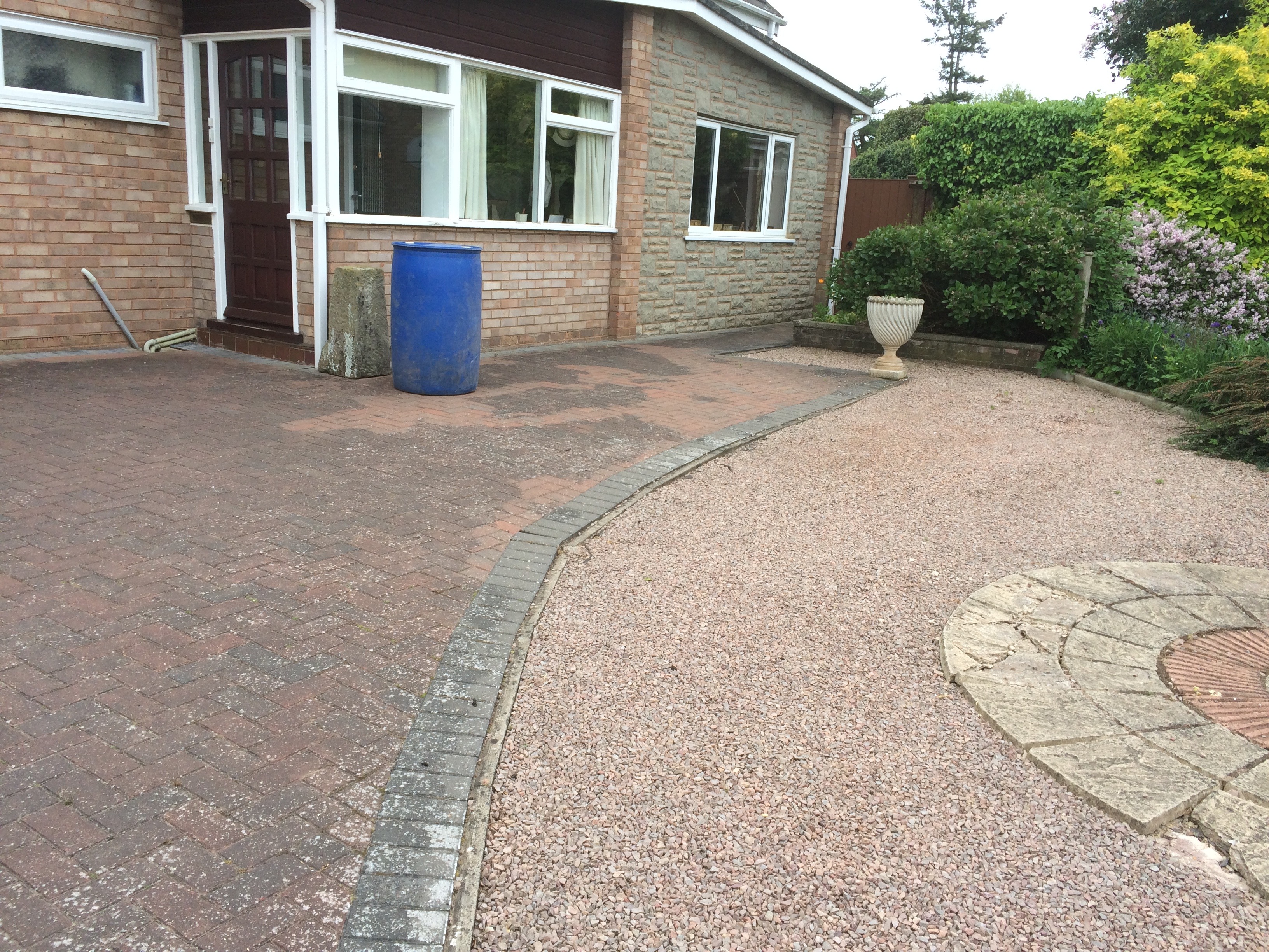 Drive cleaned in loder drive Hereford 010