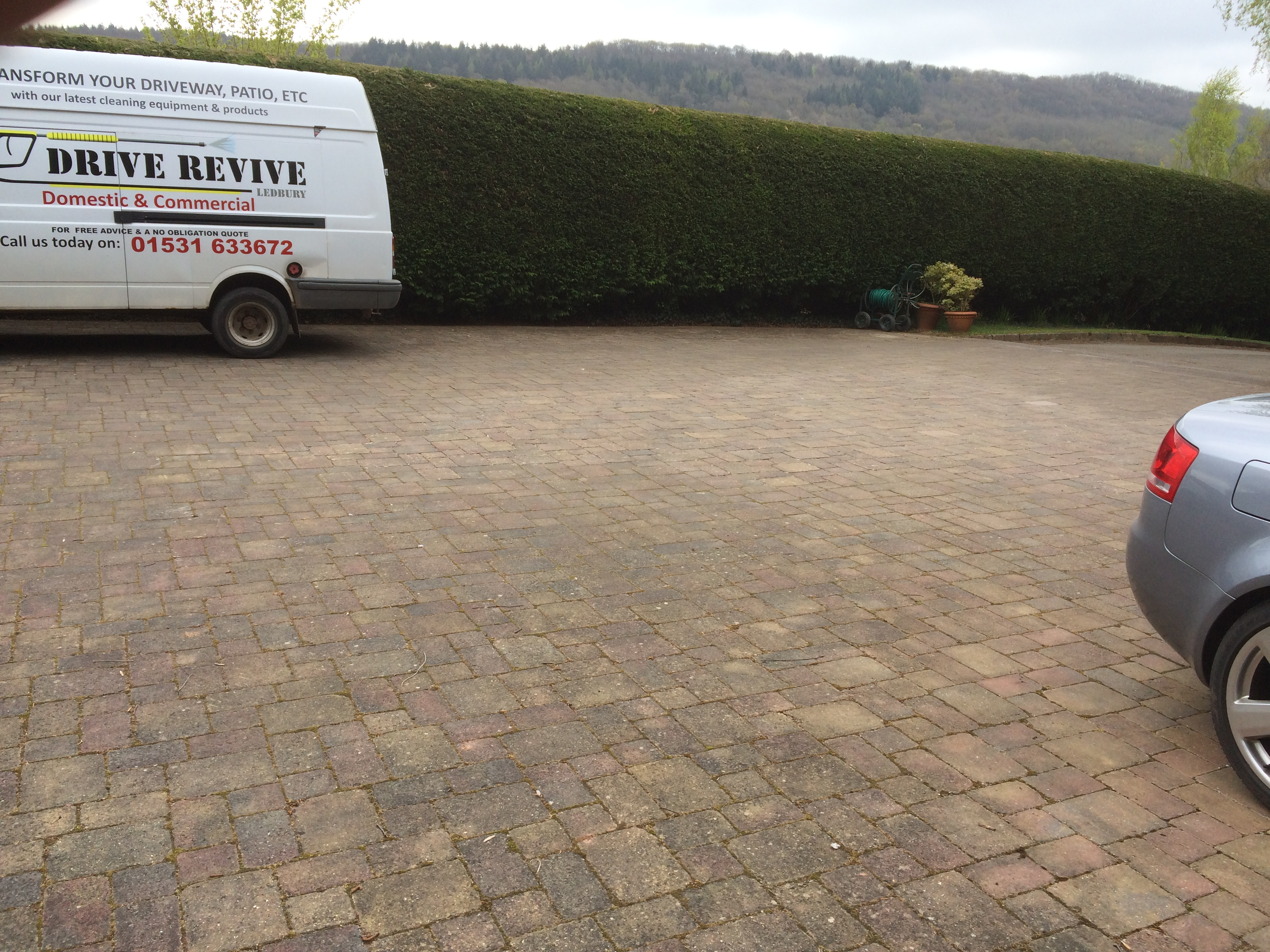 weeds sprayed off at  driveway deep clean wellington heath 007