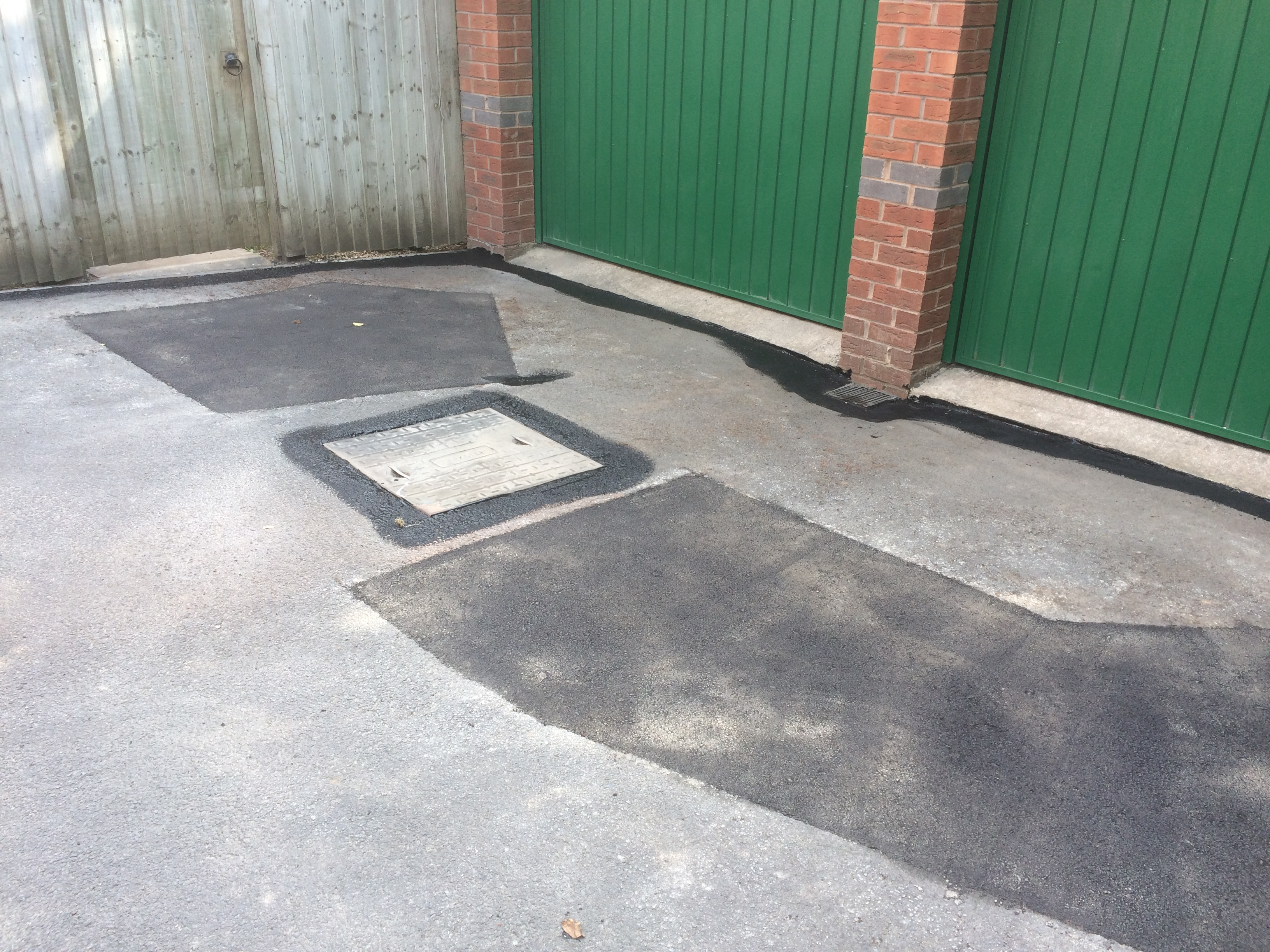 sunken areas repaired